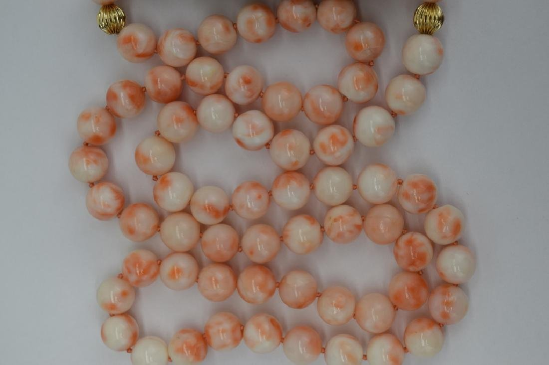 ANTIQUE CHINESE CORAL NECKLACE & EARRINGS SUITE - 9