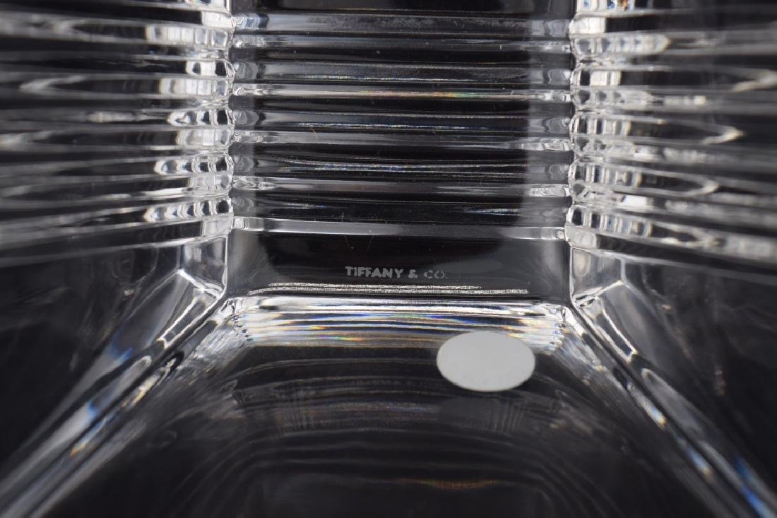 TIFFANY & CO. CRYSTAL SQUARE NUT OR CANDY DISH - 8