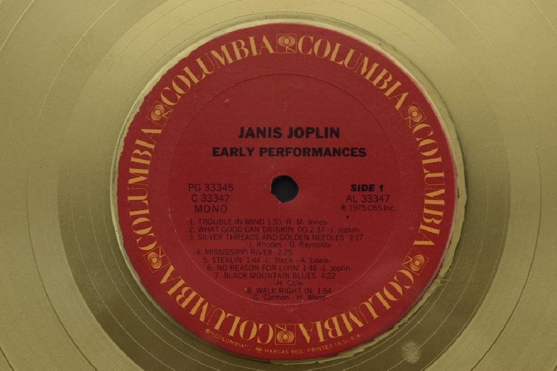 "JANIS JOPLIN GOLD COLUMBIA ""EARLY PERFORMANCES"" - 7"