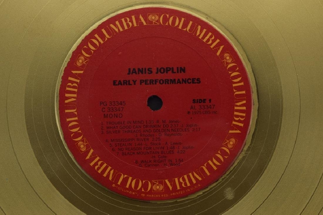 "JANIS JOPLIN GOLD COLUMBIA ""EARLY PERFORMANCES"" - 8"