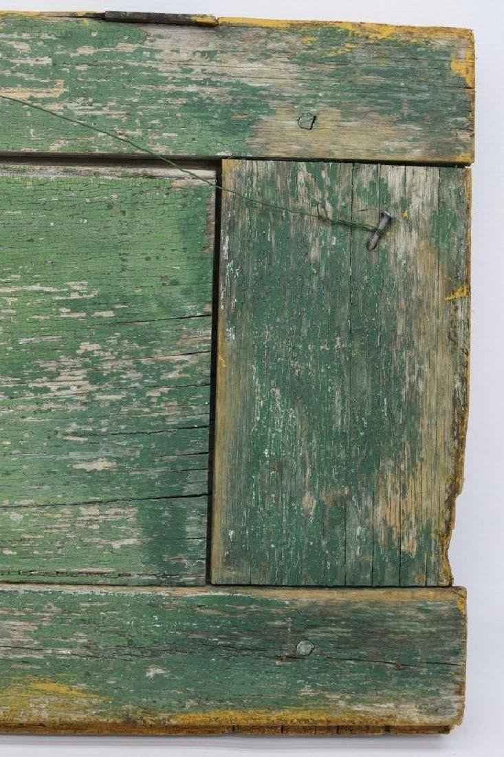 ANTIQUE BARN DOOR PAINTING OF A SHEEP SIGNED - 7
