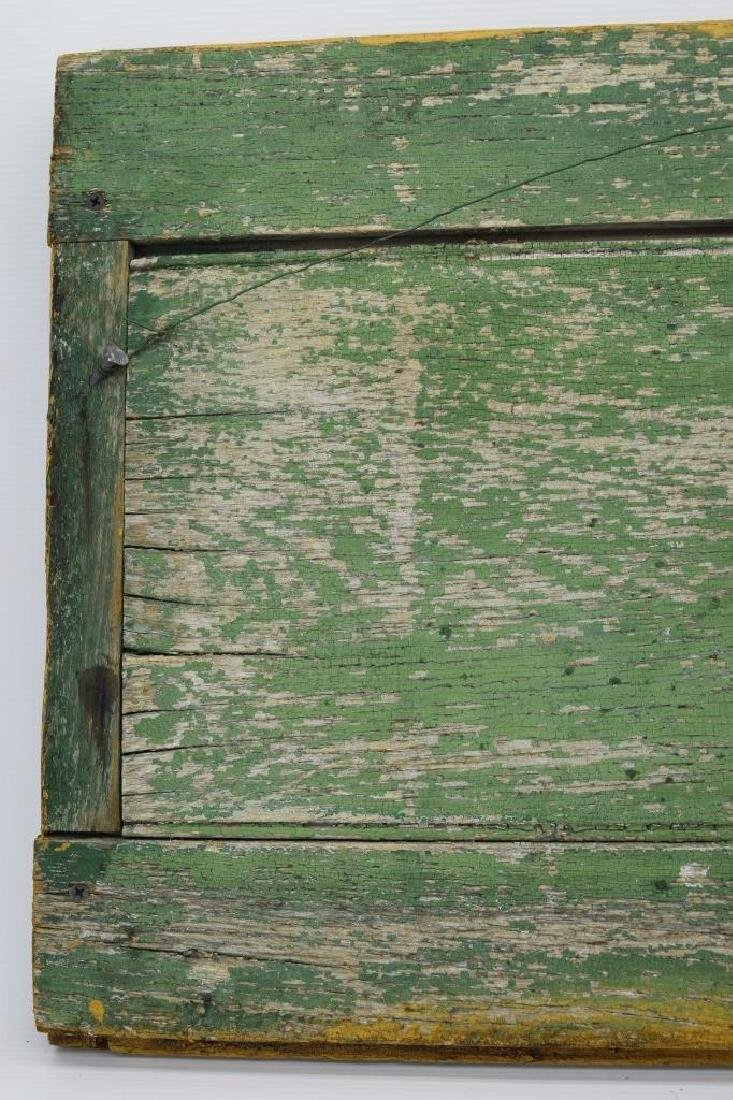 ANTIQUE BARN DOOR PAINTING OF A SHEEP SIGNED - 9