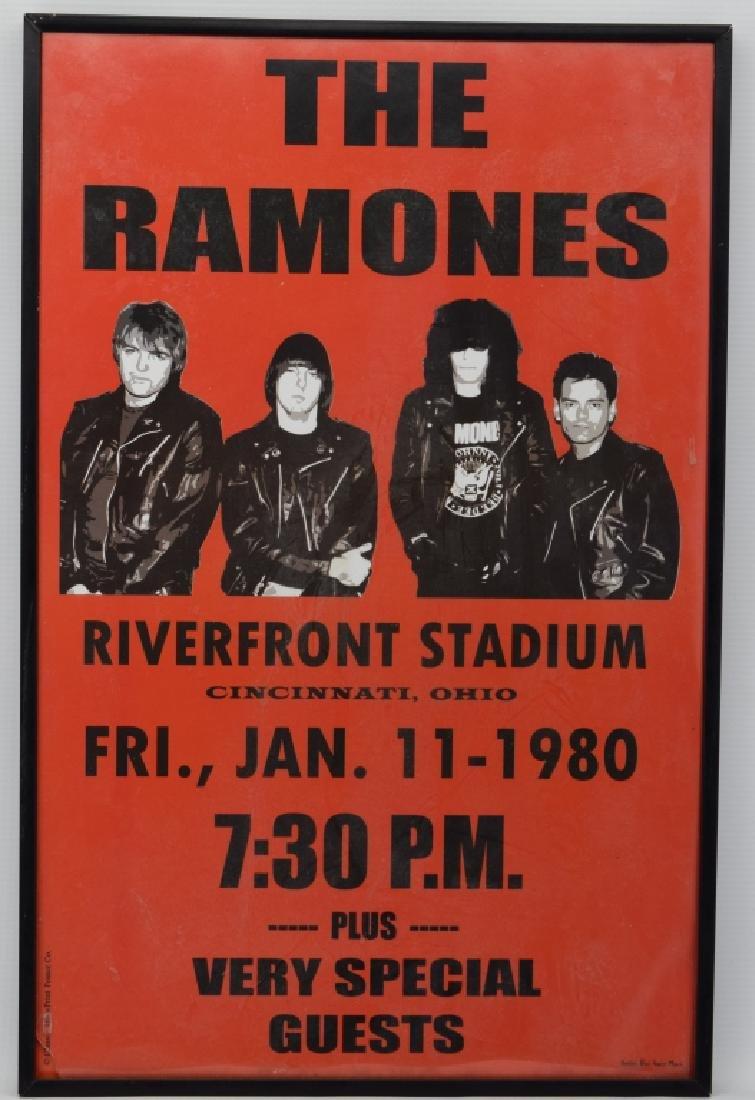 THE RAMONES RIVERFRONT STADIUM CONCERT POSTER - 3