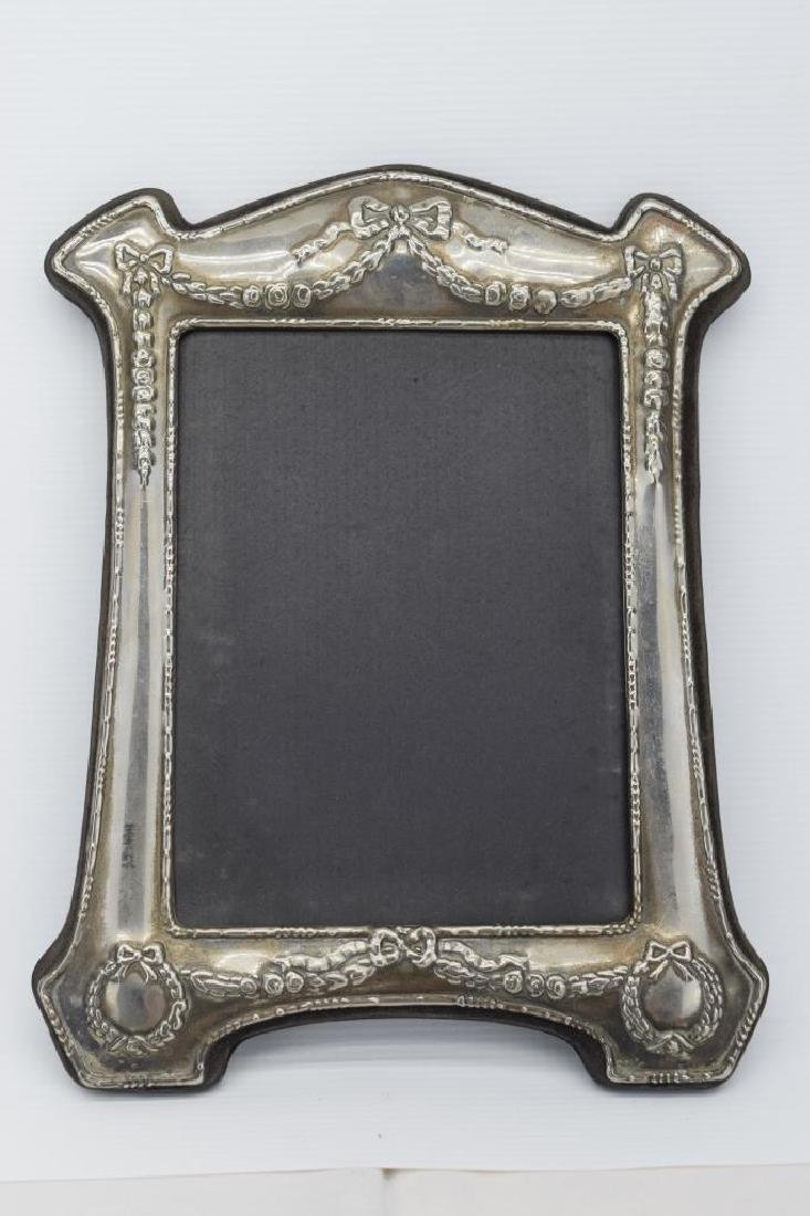 ANTIQUE STERLING SILVER MIRROR PICTURE FRAME