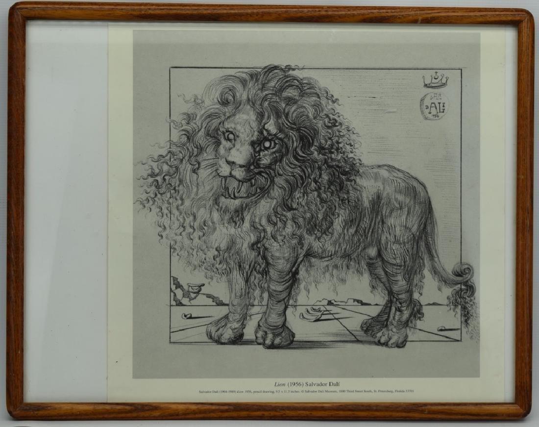 SALVADOR DALI LION SKETCH LITHO PAGE