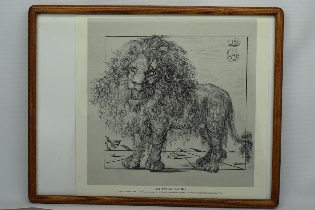 SALVADOR DALI LION SKETCH LITHO PAGE - 2