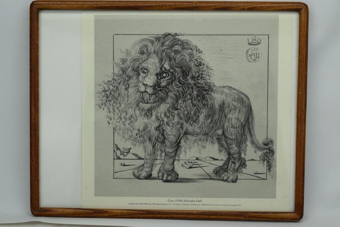 SALVADOR DALI LION SKETCH LITHO PAGE - 3