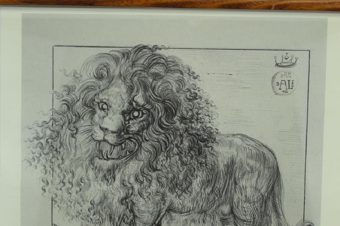 SALVADOR DALI LION SKETCH LITHO PAGE - 5