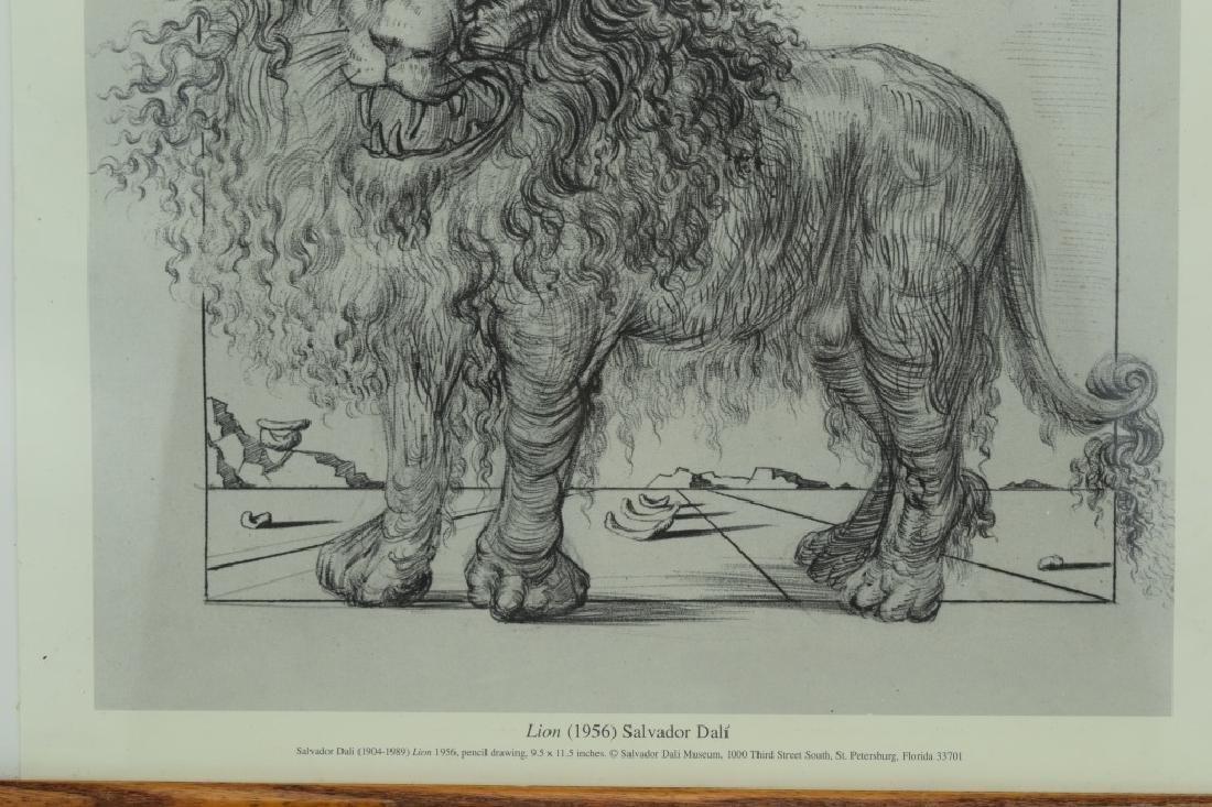 SALVADOR DALI LION SKETCH LITHO PAGE - 6