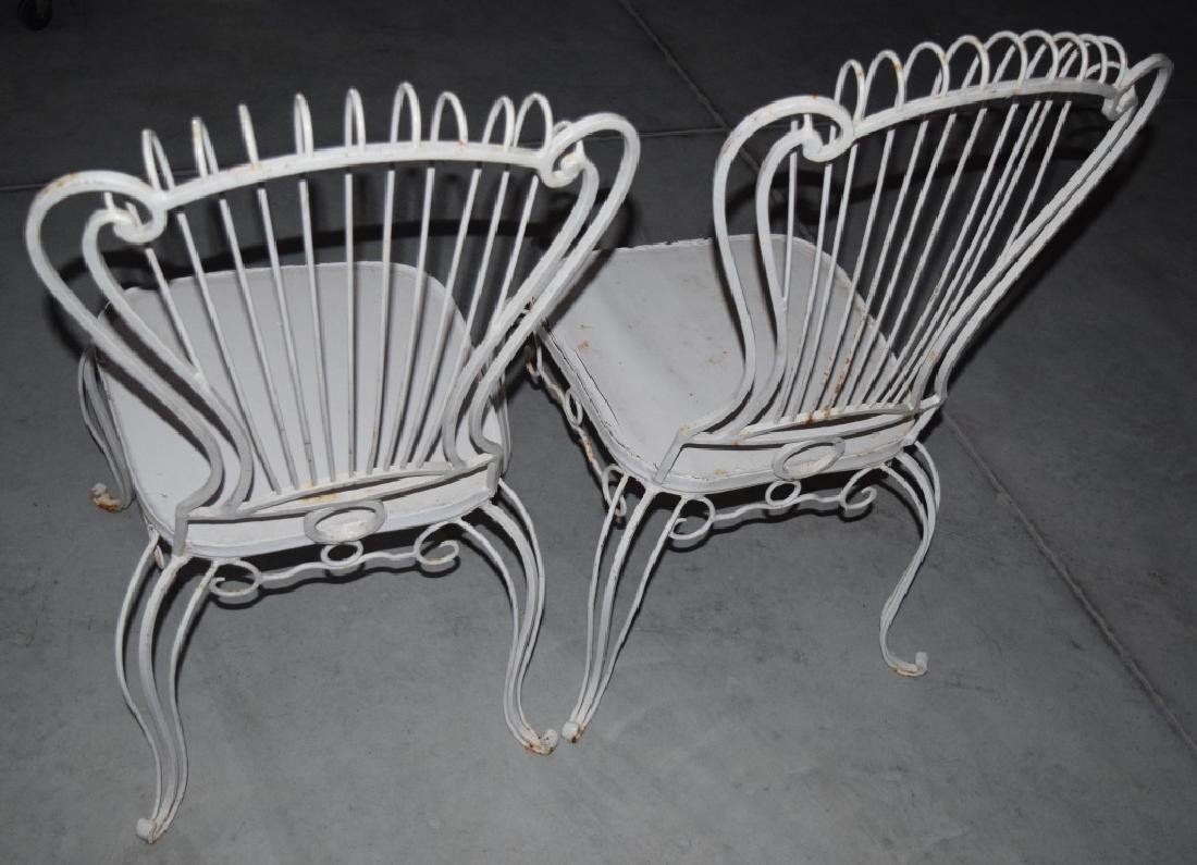 2 HOLLYWOOD REGENCY WROUGHT IRON CHAIRS - 5