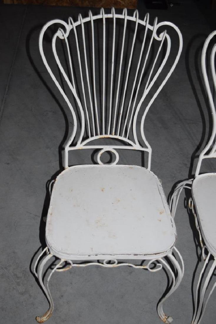 2 HOLLYWOOD REGENCY WROUGHT IRON CHAIRS - 7