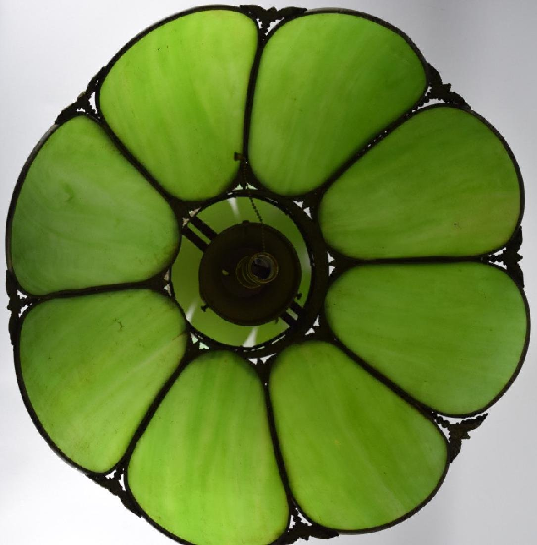 SLAG GLASS HANGING CEILING LAMP SHADE DECO-LITE - 8