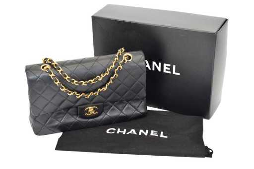 b6364615d816 CHANEL 2.55 CLASSIC DOUBLE FLAP BLACK BAG PURSE