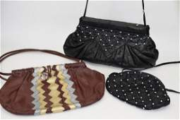 3 TIMMY WOODS BEVERLY HILLS LEATHER PURSES
