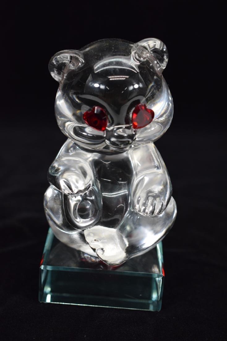 FENTON TEDDY BEAR PAPERWEIGHT & HEART PLAQUE - 10