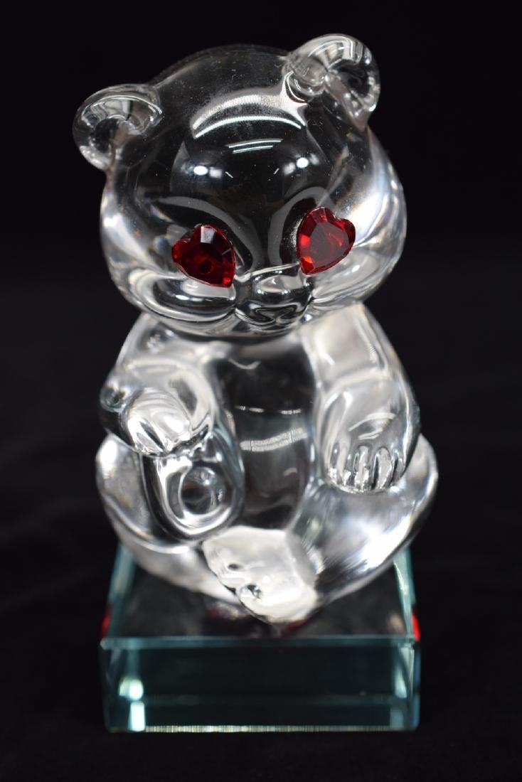 FENTON TEDDY BEAR PAPERWEIGHT & HEART PLAQUE - 9