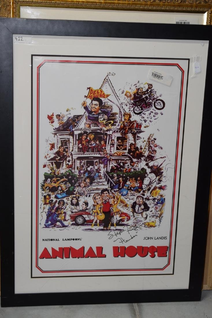 ANIMAL HOUSE MOVIE POSTER SIGNED STEPHEN FAUST