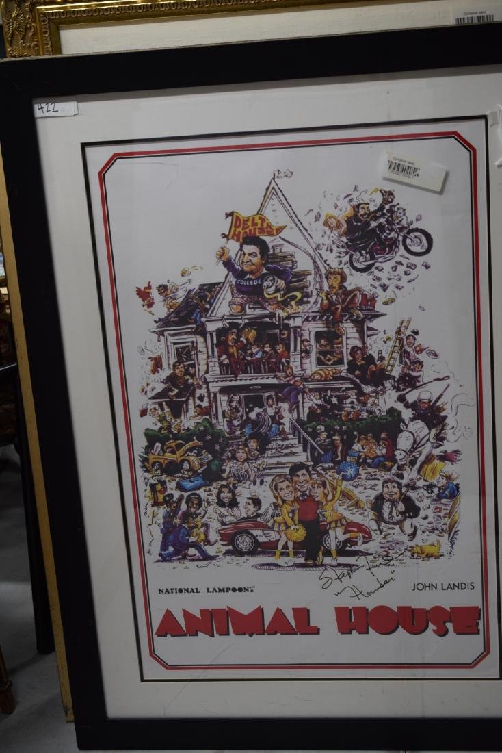 ANIMAL HOUSE MOVIE POSTER SIGNED STEPHEN FAUST - 2