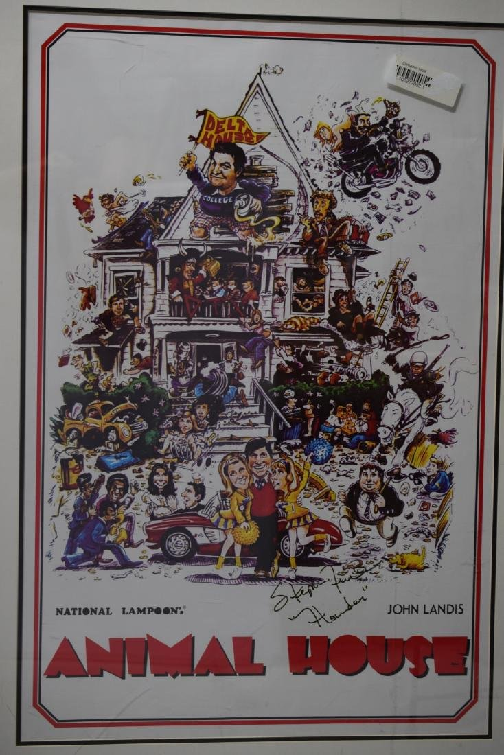 ANIMAL HOUSE MOVIE POSTER SIGNED STEPHEN FAUST - 3