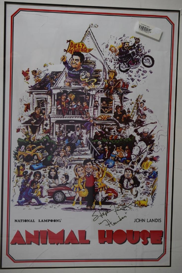 ANIMAL HOUSE MOVIE POSTER SIGNED STEPHEN FAUST - 5
