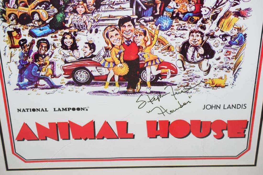 ANIMAL HOUSE MOVIE POSTER SIGNED STEPHEN FAUST - 8