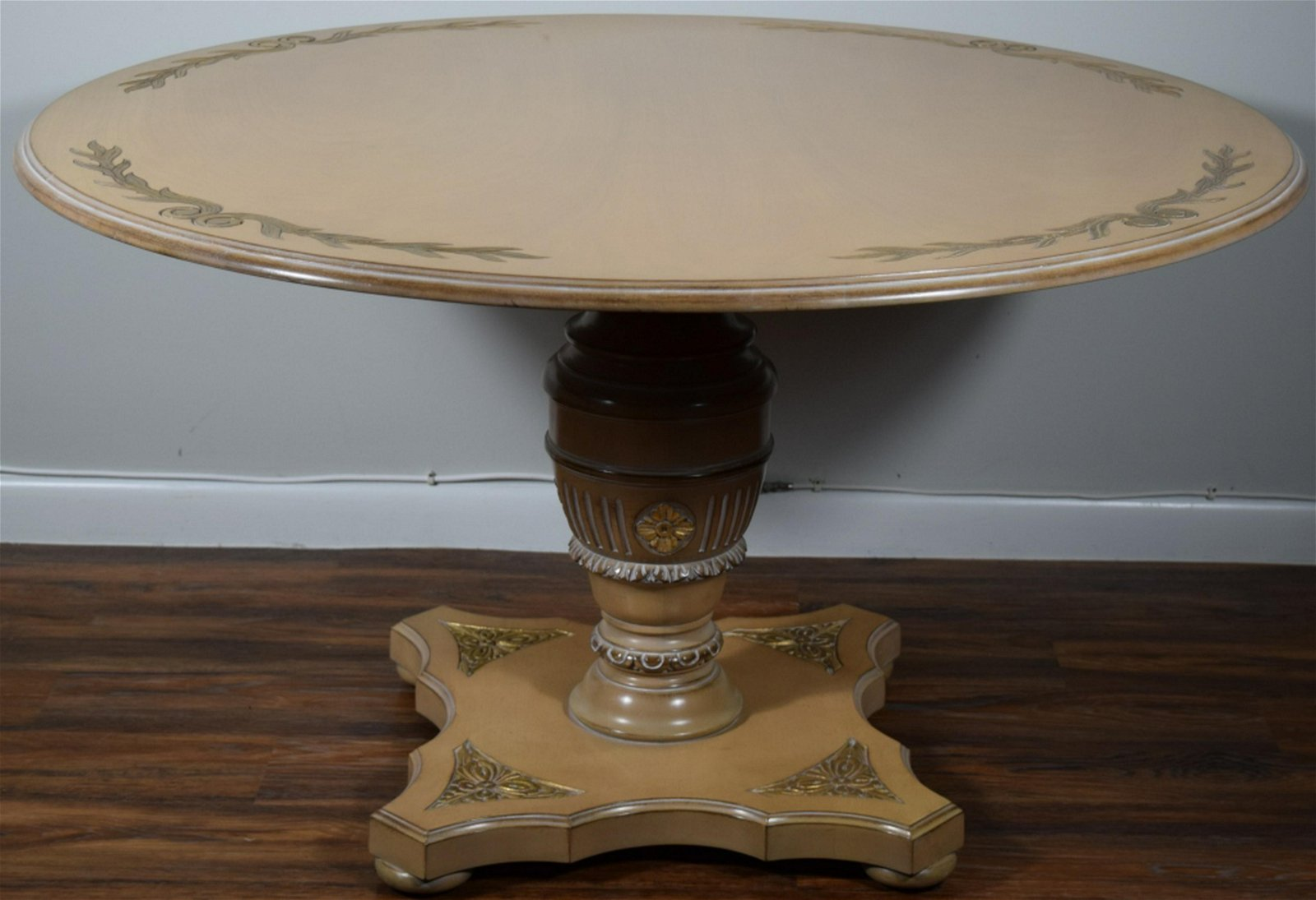 VINTAGE LARGE ROUND WOODEN TABLE
