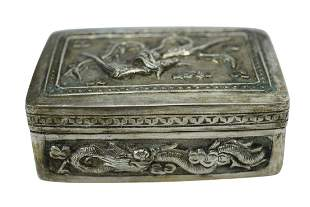 JAPANESE 700 SILVER TOBACCO TRINKET BOX