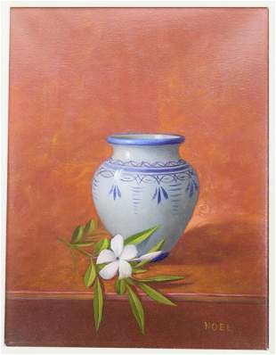 SIGNED JUAN NOEL OIL ON CANVAS PAINTING