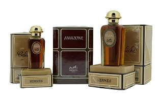 LOT OF 3 HERMES PERFUMES CALECHE & AMAZONE
