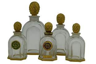 SET OF 5 PATOU PERFUME BOTTLES