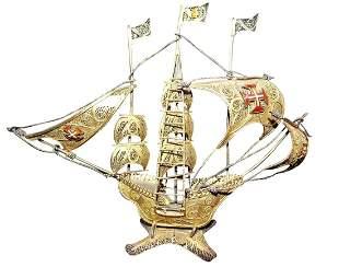 ANTIQUE SILVER SPANISH SAILING SHIP