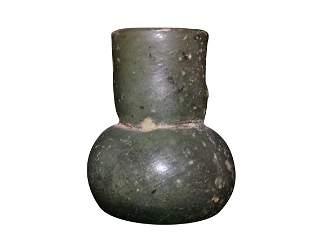 ANCIENT ROMAN GLASS MINIATURE VASE/VESSEL