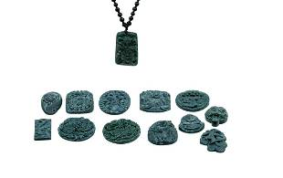 COLLECTION OF VINTAGE JADE PENDANTS AND NECKLACE