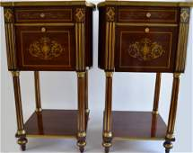 RUSSIAN NEOCLASSICAL STYLE MAHOGANY SIDE TABLES
