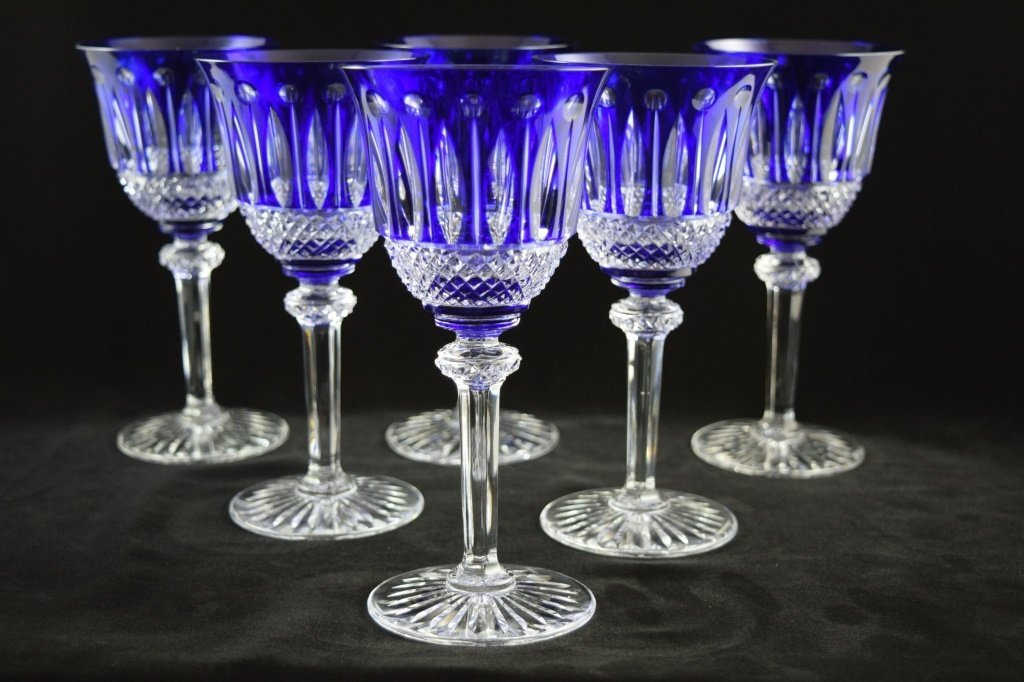 8 RARE FRENCH ST LOUIS TOMMY COBALT BLUE CRYSTAL - 7