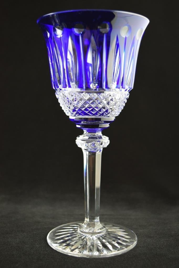 8 RARE FRENCH ST LOUIS TOMMY COBALT BLUE CRYSTAL - 8