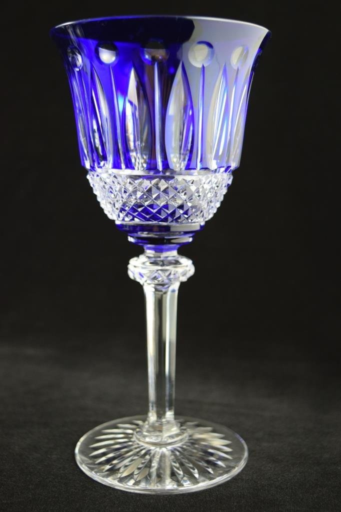 8 RARE FRENCH ST LOUIS TOMMY COBALT BLUE CRYSTAL - 9