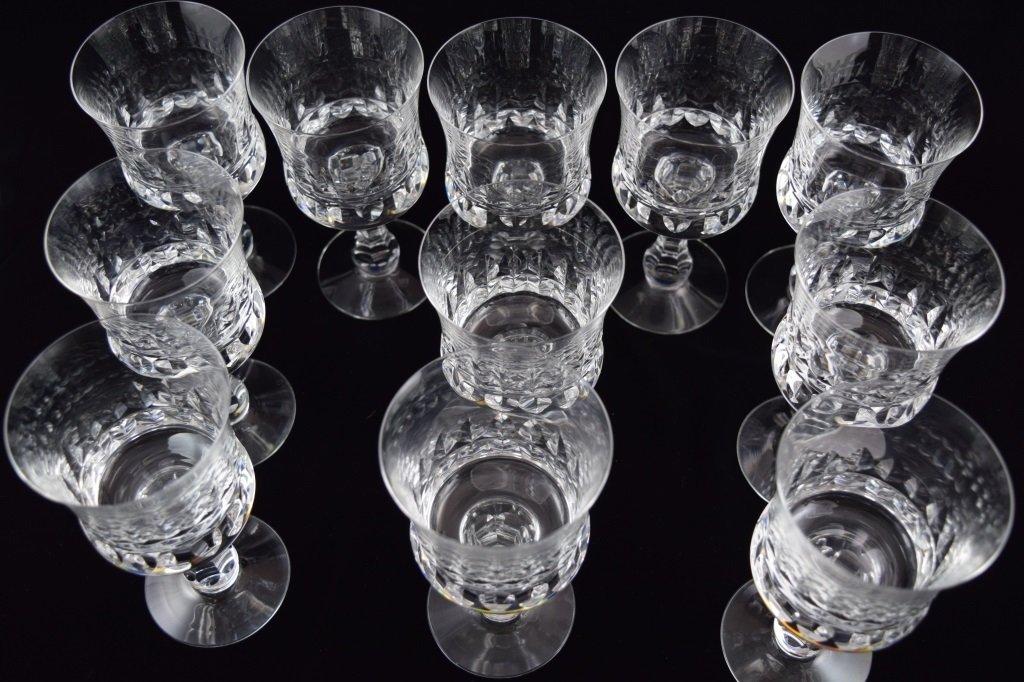 11 KOSTA BODA PRINCE PATTERN CRYSTAL WATER GOBLETS - 6