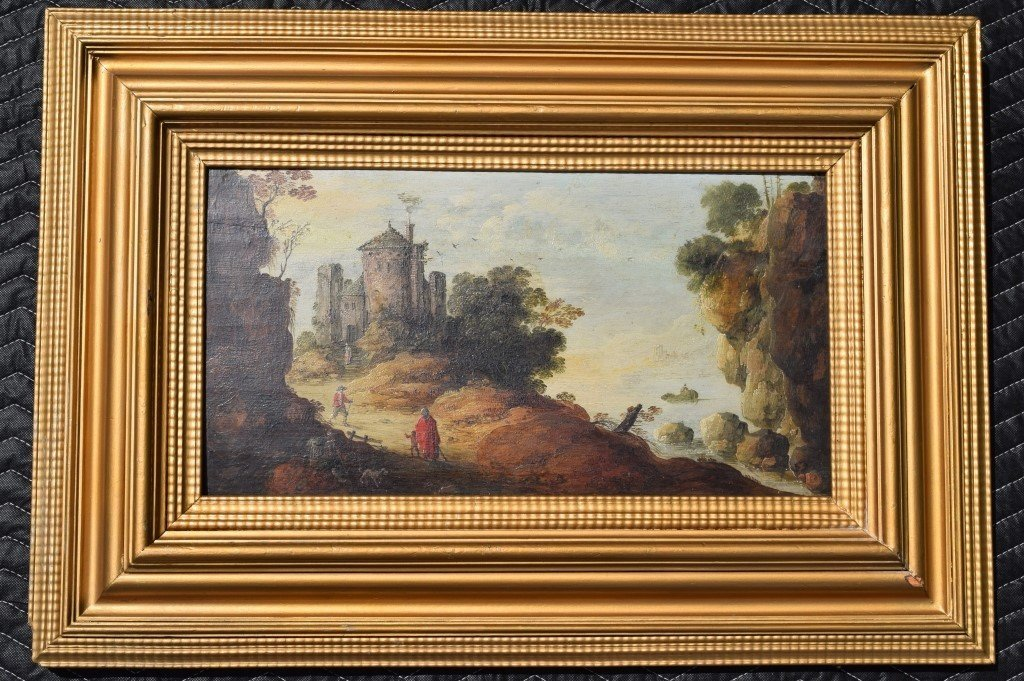 17th C. JAN VAN GOYEN DUTCH 1596-1656 OIL ON PANEL