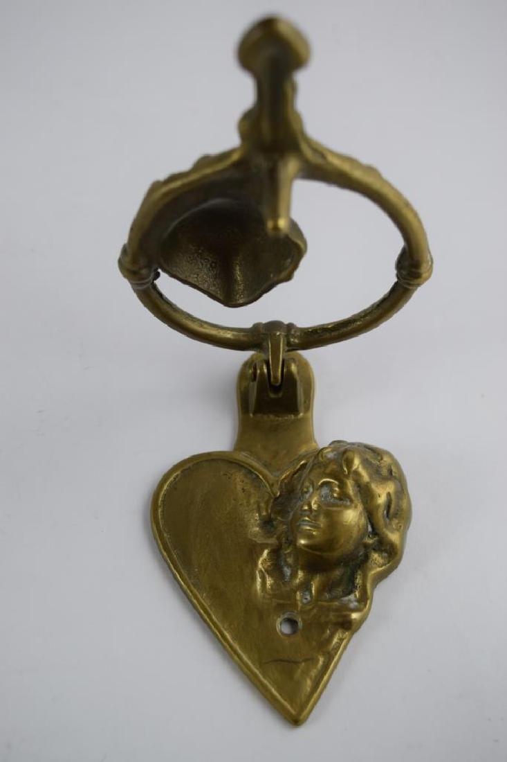 LOVERS KISSING COUPLE BRONZE DOOR KNOCKER - 8