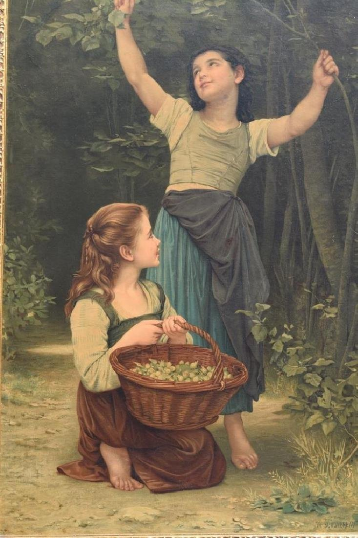 AFTER WILLIAM BOUGUEREAU PAINTING ON BOARD