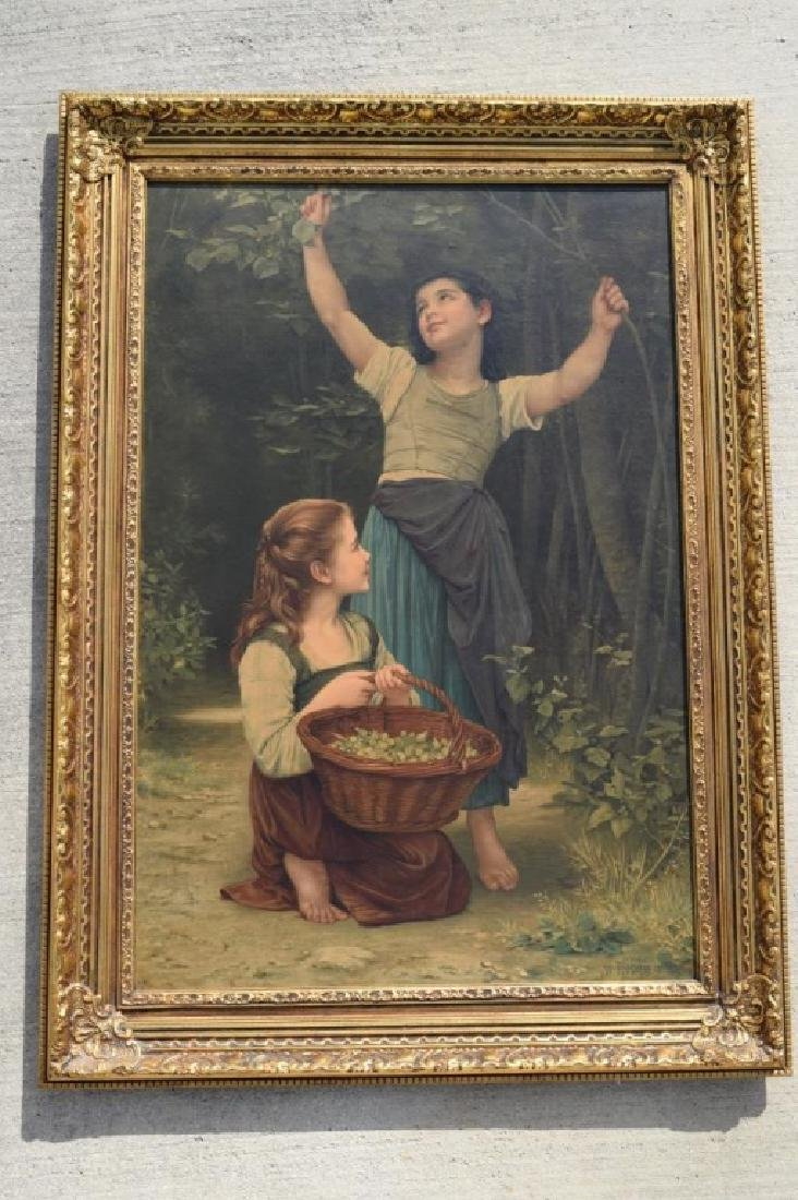 AFTER WILLIAM BOUGUEREAU PAINTING ON BOARD - 2