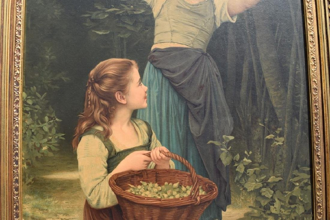 AFTER WILLIAM BOUGUEREAU PAINTING ON BOARD - 4