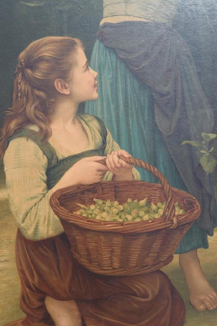 AFTER WILLIAM BOUGUEREAU PAINTING ON BOARD - 7