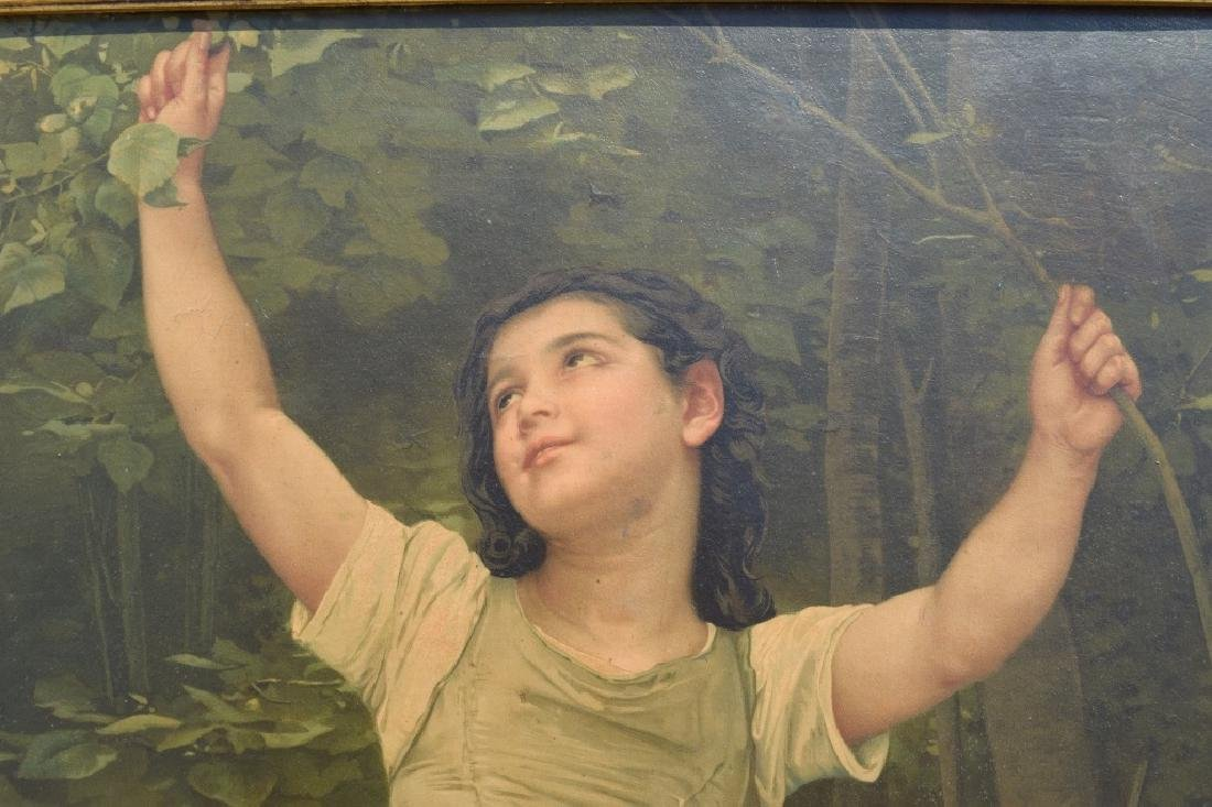 AFTER WILLIAM BOUGUEREAU PAINTING ON BOARD - 9