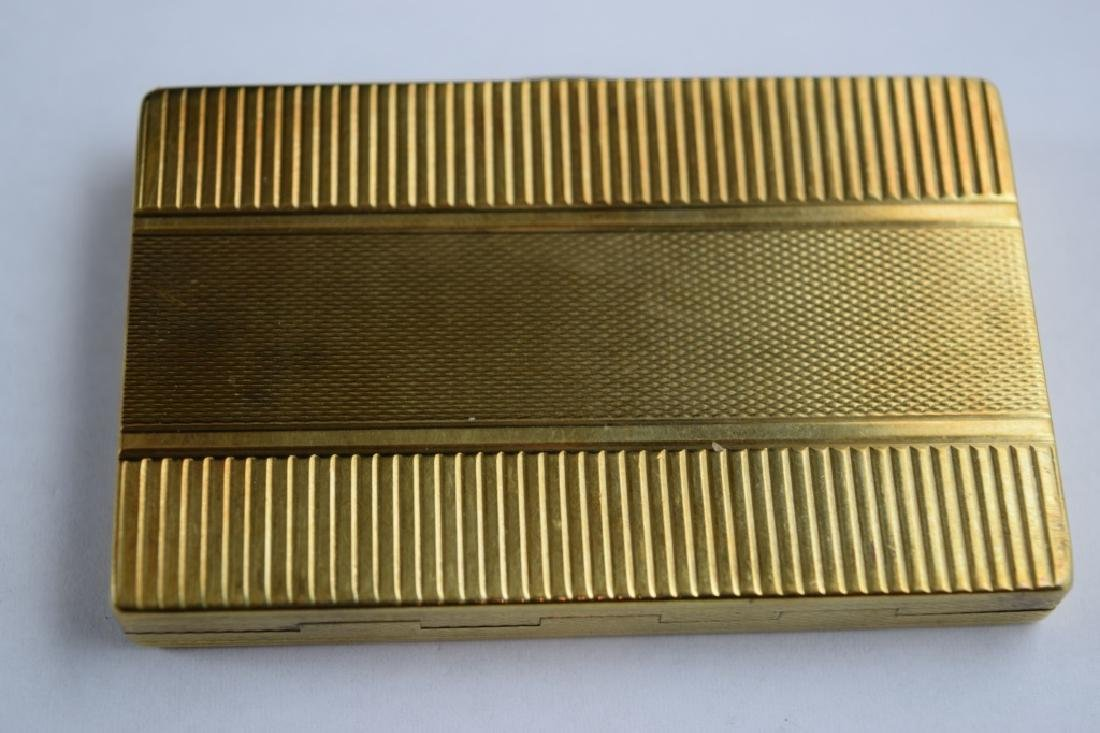 14K GOLD CIGARETTE CASE BOX MATCH VESTA