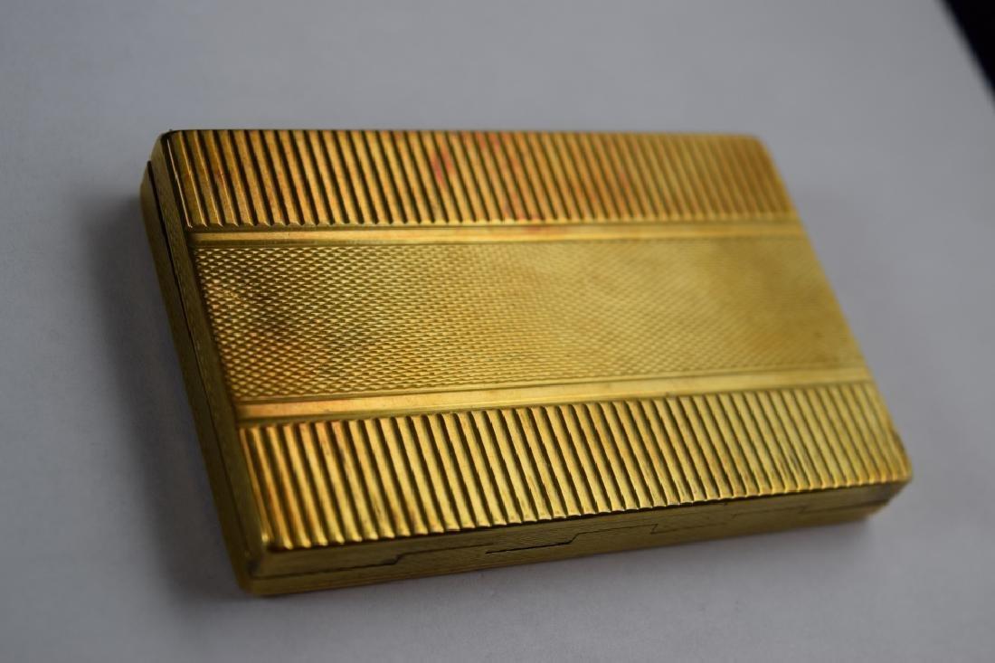 14K GOLD CIGARETTE CASE BOX MATCH VESTA - 2