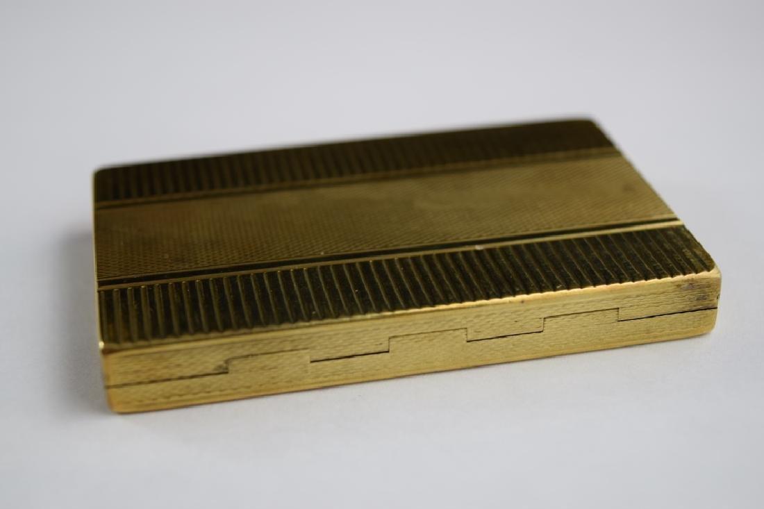 14K GOLD CIGARETTE CASE BOX MATCH VESTA - 3