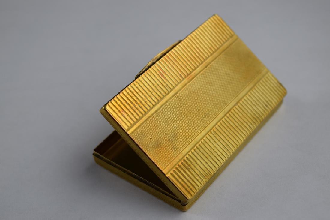 14K GOLD CIGARETTE CASE BOX MATCH VESTA - 4