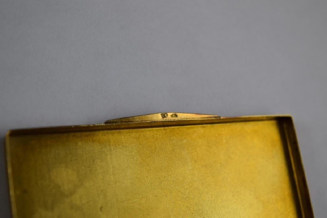 14K GOLD CIGARETTE CASE BOX MATCH VESTA - 6